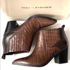 NEW Marc Fisher Leather Ankle Boots